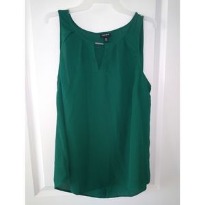 TORRID Green Sheer Sleeveless Top